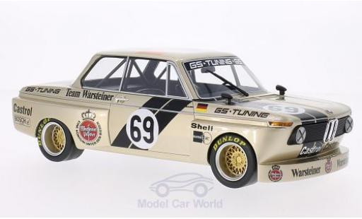Bmw 2002 1/18 BoS Models Gr.2 No.69 GS Tuning Warsteiner DRM 1975 J.Obermoser miniature