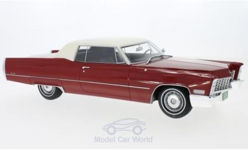 Cadillac Deville 1/18 BoS Models DeVille Coupe rouge/blanche 1967 miniature