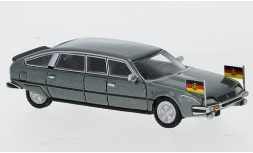 Citroen CX 1/87 BoS Models Nilsson metallise grise 1985 DDR-Staatslimousine avec Standarten miniature