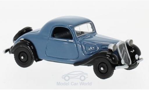Citroen Traction 1/87 BoS Models Avant Faux Cabriolet bleue/noire 1936 miniature