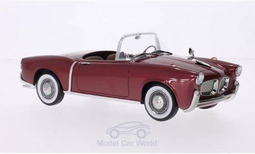 Fiat 1100 1/18 BoS Models TV Trasformabile metallise rojo 1955 coche miniatura