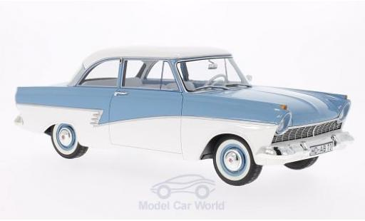 Ford Taunus 1957 1/18 BoS Models 17M (P2) bleue/blanche miniature
