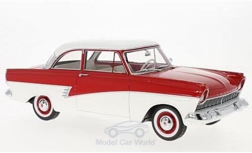 Ford Taunus 1957 1/18 BoS Models 17M (P2) rouge/blanche miniature