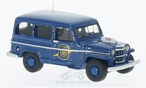 Jeep Willys 1/87 BoS Models Station Wagon bleue Michigan State Police 1954 miniature