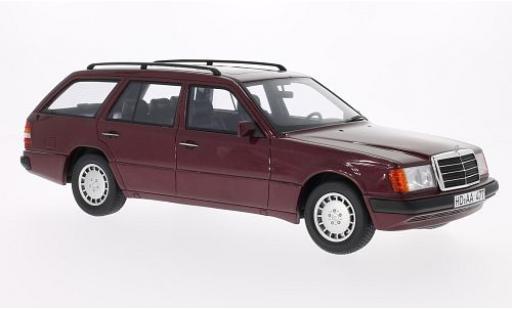 Mercedes 300 1/18 BoS Models TE (S124) metallise rouge 1990 miniature