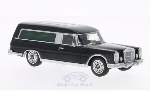 Mercedes 600 1/43 BoS Models Pollmann noire Bestattungswagen miniature