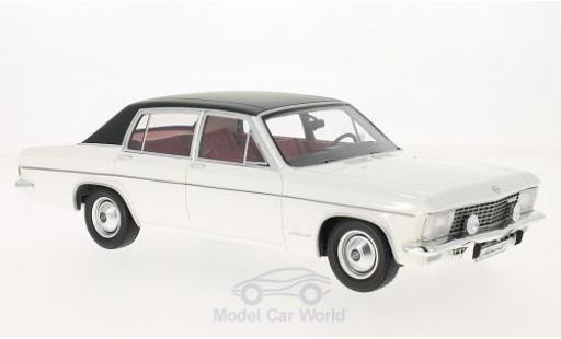 Opel Admiral 1/18 BoS Models B blanche/noire 1971 miniature