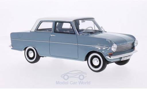 Opel Kadett E 1/18 BoS Models A bleue/blanche 1962 miniature