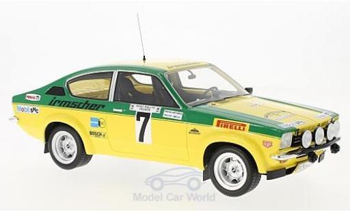Opel Kadett GT 1/18 BoS Models C GT/E No.7 Rallye DM Rallye Hessen 1976 W.Smolej/C.Geistdörfer miniature