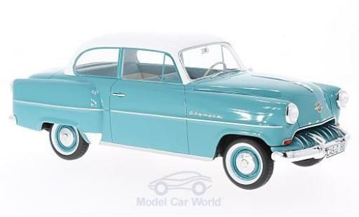 Opel Olympia 1/18 BoS Models Rekord turquoise/blanche 1953 ohne Vitrine miniature