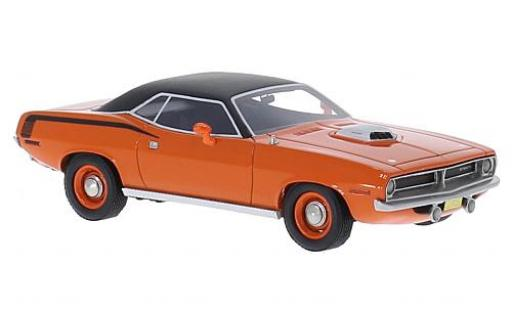 Plymouth Cuda 1/43 BoS Models 426 HEMI orange/matt-noire 1970 miniature