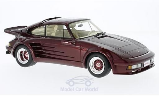 Porsche 930 Turbo 1/18 BoS Models Turbo Gemballa Avalanche metallic-dunkelrosso 1986 miniatura