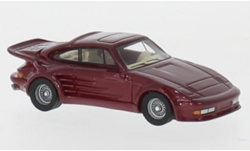 Porsche 930 Turbo 1/87 BoS Models 911 Gemballa Avalanche metallise rouge 1986 miniature