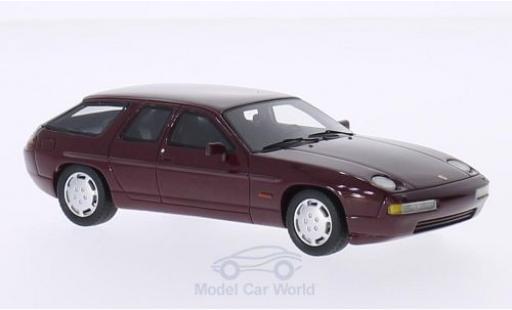 Porsche 928 1/43 BoS Models H50 Concept metallise red 1987 diecast model cars