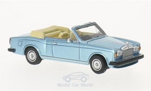 Rolls Royce Corniche 1/87 BoS Models Convertible metallic-hellblue RHD 1974 diecast
