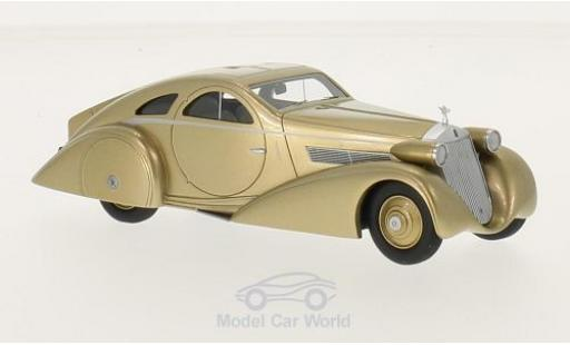 Rolls Royce Phantom 1/43 BoS Models I Jonckheere Coupe Aerodynamic Coupe gold RHD 1935 miniature