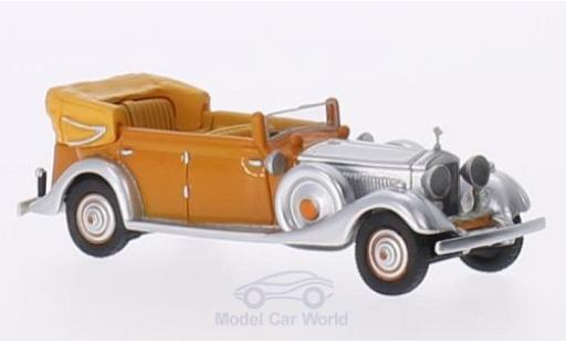 Rolls Royce Phantom 1934 1/87 BoS Models II Thrupp & Maberly orange/aluminium RHD 1934 Star of India miniature