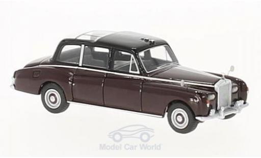 Rolls Royce Phantom 1/87 BoS Models VI rouge/noire Queen Elizabeth 1977 miniature