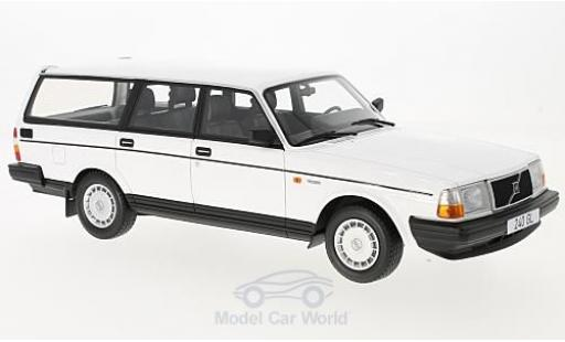 Volvo 240 GL 1/18 BoS Models white 1989 diecast model cars