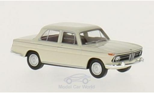 Bmw 1800 1/87 Brekina white diecast model cars