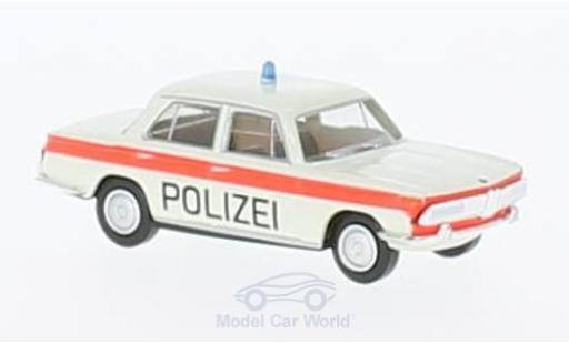 Bmw 2000 1/87 Brekina white/orange Polizei Solothurn diecast