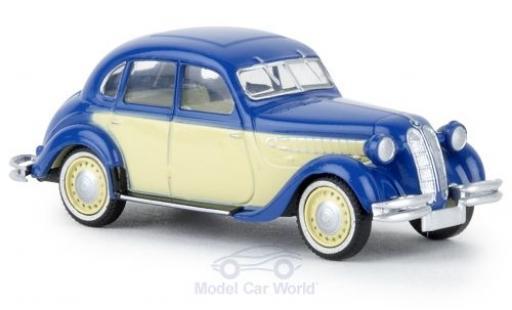 Bmw 326 1/87 Brekina bleue/beige TD miniature