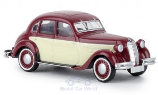 Bmw 326 1/87 Brekina rouge/beige TD miniature