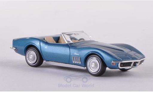 Chevrolet Corvette C3 1/87 Brekina  Convertible metallise blue diecast model cars
