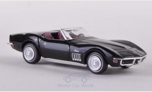 Chevrolet Corvette 1/87 Brekina (C3) Convertible black diecast model cars