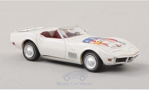 Chevrolet Corvette C3 1/87 Brekina Convertible blanche/Dekor American Eagle miniature