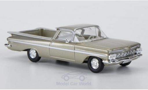 Chevrolet El Camino 1/87 Brekina metallise beige/blanche miniature