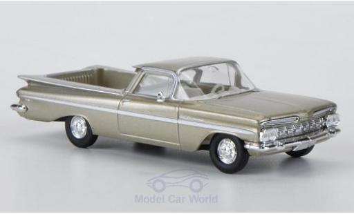Chevrolet El Camino 1/87 Brekina metallic-beige/blanche miniature