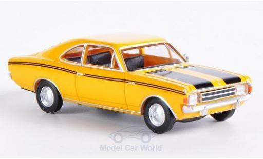 Opel Rekord 1/87 Brekina Drummer C Coupe jaune/noire miniature