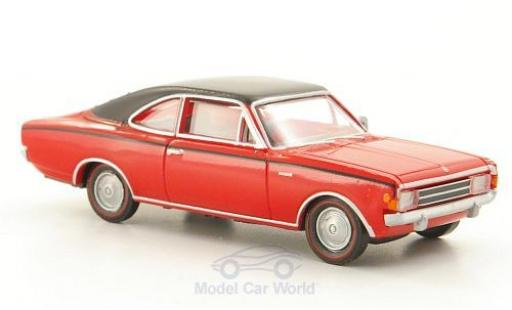 Opel Rekord 1/87 Brekina Drummer C Coupe rouge/noire miniature