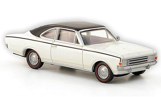 Opel Rekord 1/87 Brekina C Coupe blanche/matt-noire miniature
