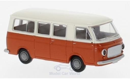 Fiat 238 1/87 Brekina Bus white/orange diecast model cars