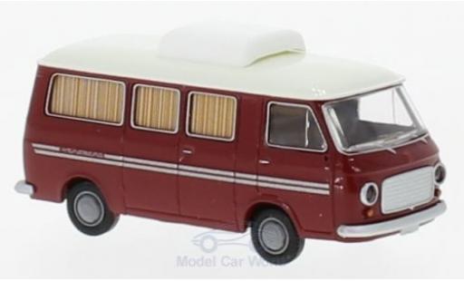 Fiat 238 1/87 Brekina Camper Weinsberg rouge miniature