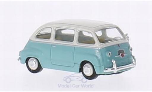 Fiat Multipla 1/87 Brekina turquoise/blanche