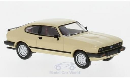 Ford Capri 1/87 Brekina MKIII beige 1981 miniature