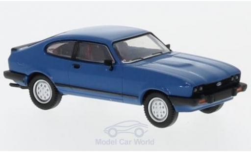 Ford Capri 1/87 Brekina MKIII bleue 1981 miniature