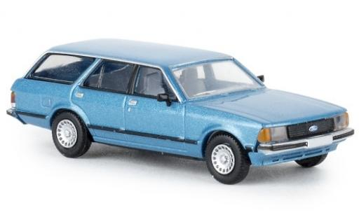 Ford Granada 1/87 Brekina II Turnier metallise blue 1977 TD diecast model cars