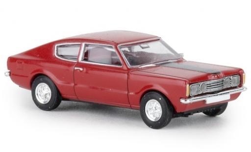 Ford Taunus 1/87 Brekina Coupe GT rouge 1972 Capot noire miniature