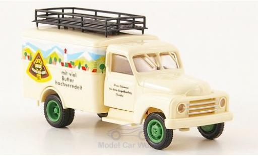 Hanomag L28 1/87 Brekina Koffer Adler Käse-Creme miniature