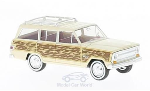Jeep Wagoneer 1/87 Brekina beige/Holzoptik Woody miniature