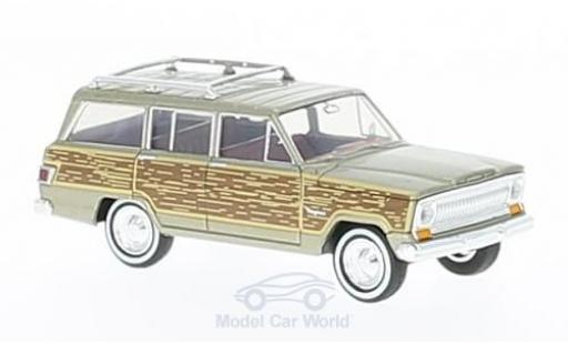 Jeep Wagoneer 1/87 Brekina metallise beige/Holzoptik Woody miniature