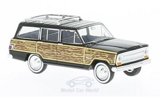 Jeep Wagoneer 1/87 Brekina noire/Holzoptik Woody miniature