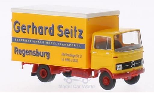 Mercedes LP 608 1/87 Brekina Koffer Gerhard Seitz miniature