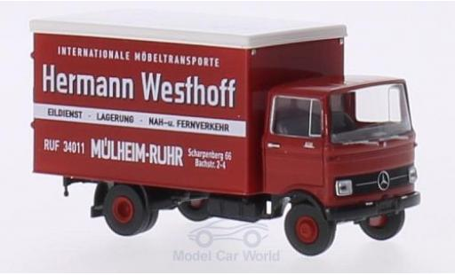Mercedes LP 608 1/87 Brekina Koffer H.Westhoff Mühlheim/Ruhr miniature