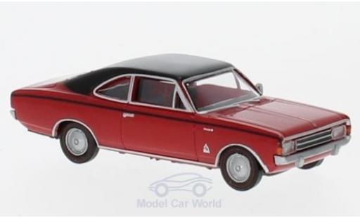 Opel Rekord 1/87 Brekina C Coupe rouge/noire aus der Schweiz miniature