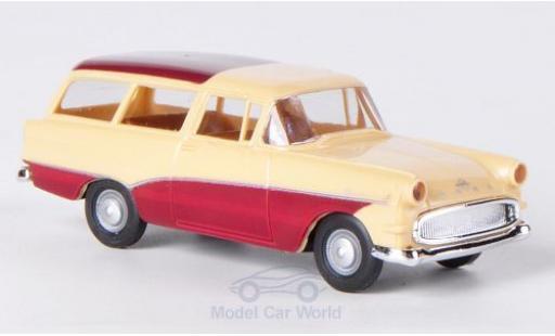 Opel Rekord 1/87 Brekina P1 Caravan beige/rouge